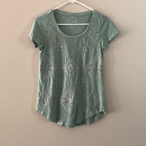 Lucky Brand Tops - LUCKY BRAND soft T-shirt with embroidery detail
